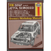 VW Golf(petrol) Jetta, Scirocco, Owners Workshop Manual, Haynes 1991 B O2
