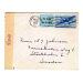 st Lake Forest 1944 med brev air mail to Sweden  53040