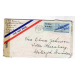 st lake Forest 1945 air mail med brev to Sweden   6690