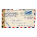 st Kansas 1944 air mail to Sweden med brev 7164 Transatlantic