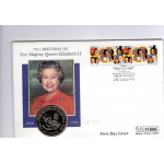 70 th birthday of her majesty Queen Elizabeth II FDC 1996